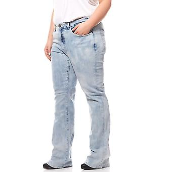 sheego ladies Bootcut stretch jeans plus size short size light blue