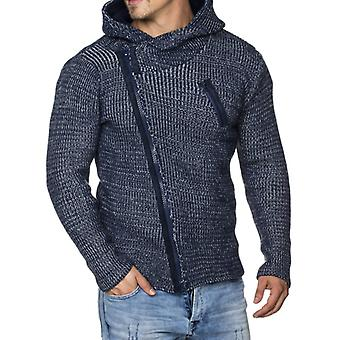 Tazzio fashion men's sweater with hood blue
