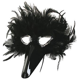 Accessorio della primavera di Domino Eyemask Nero Carnevale di Venezia