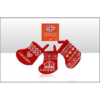 Union Jack Wear London Knitted Christmas Stocking Decorations