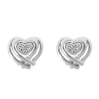 Orphelia sølv 925 ørering hjerte form Zirconium - zo-7368