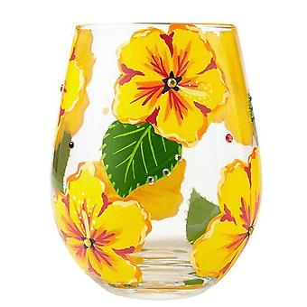 Lolita Hibiscus Stemless Glass, Tumbler