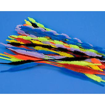 28 Assorted Bumpy Craft Pipecleaners | Chenille Stems