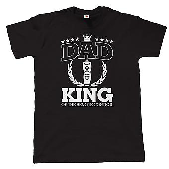 Dad King Of The Remote Control Mens Funny T Shirt - Gift for Birthday