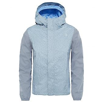 North Face Girl's Resolve Reflective Jacket - Mid Grey Crackle Print