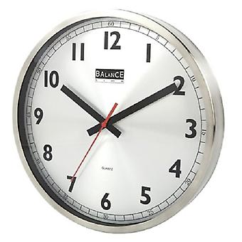 Balance STAINLESS STEEL quartz wall clock 30 cm