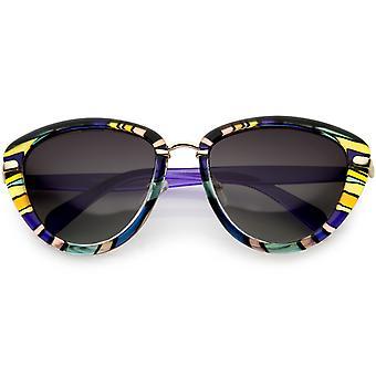 Frauen polarisierten Cat Sonnenbrille Gradient Augenlinse 55mm
