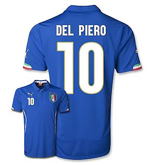 2014-15 Italië World Cup Home Shirt (Del Piero 10)