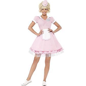 50's Diner Girl Costume, UK 12-14