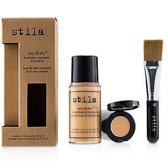 Stila Stay All Day Foundation Concealer & Brush Kit - # 6 Tone - 2pcs