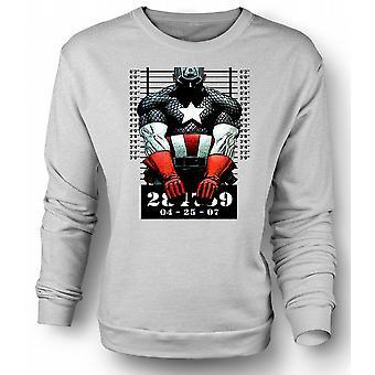 Mens Sweatshirt Captain America - tegneserie - krus skudd