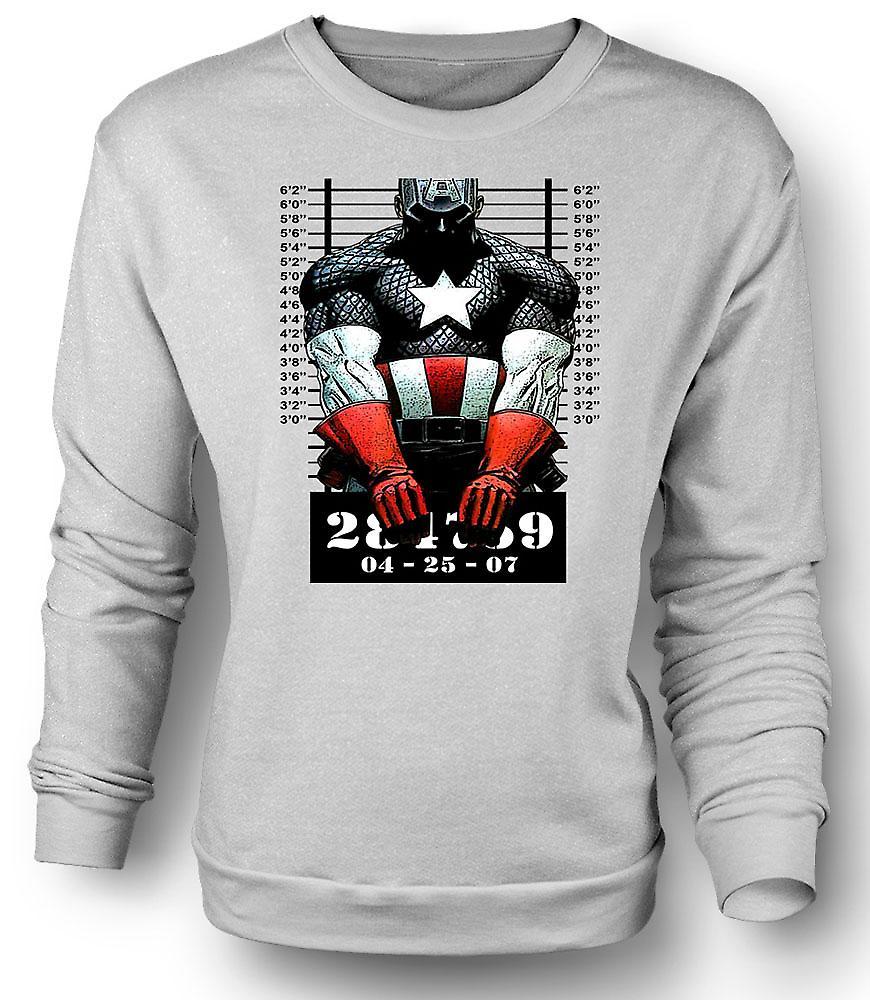 Coup de gueule de Sweatshirt Captain America - dessin animé - Mens