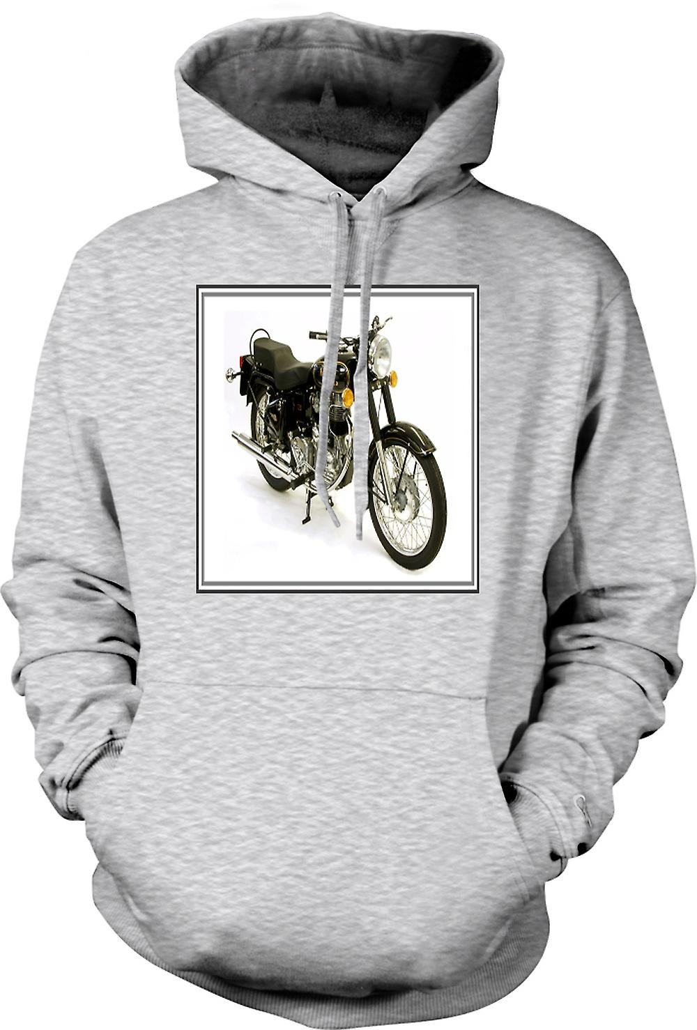 Mens Hoodie - Royal Enfield Bullet - Classic Bike