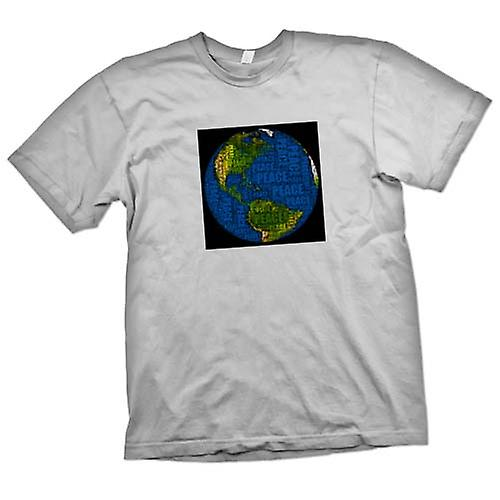 Mens T-shirt - Earth Peace Map