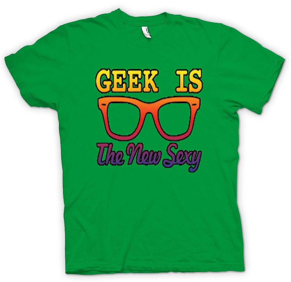 Heren T-shirt - Geek is de nieuwe Sexy Wayfarer