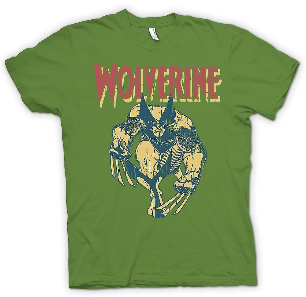 Mens T-shirt-Superhero Wolverine Krallen Stahl
