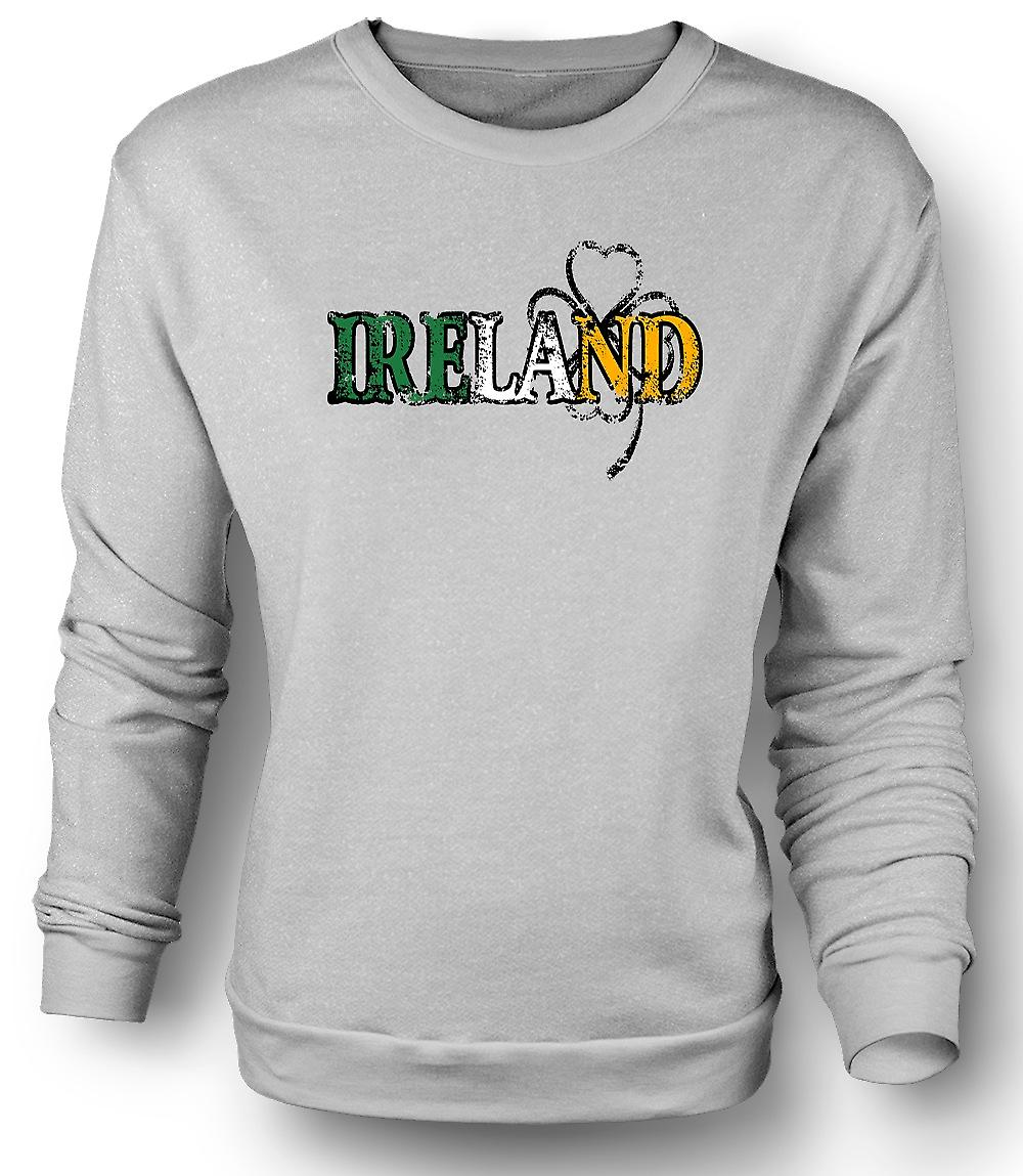 Mens Sweatshirt St Patricks Day - Ireland