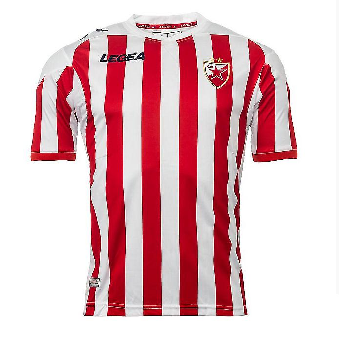 2013-14 Red Star Belgrade Legea Home Football Shirt