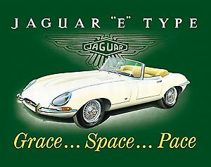 Jaguar EType Steel Fridge Magnet