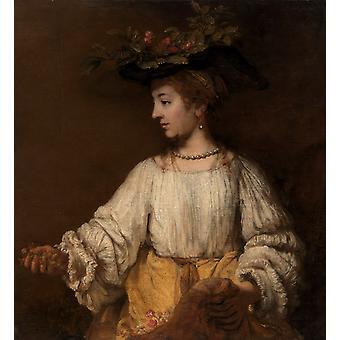 Flora,Rembrandt,50x46cm
