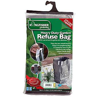 Kingfisher GB1 Heavy Duty Garden Waste Refuse Rubbish Bag Sack Large 170L Litre Capacity Long Lasting Folds Flat