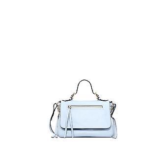 Red Valentino Light Blue Leather Shoulder Bag