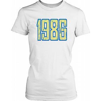 1986 - Birthday Year Ladies T Shirt