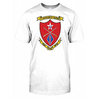 1st Battalion 5th Marines Insignia - Make Peace or Die Mens T Shirt