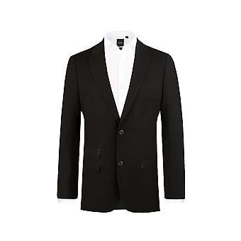 Dobell męskie czarny garnitur marynarka Slim Fit Travel/wydajność Wycięcie klapy