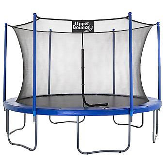 Upper Bounce - 12 FT. Big Trampoline with Enclosure Safety Net, Poles, Jumping Mat, Spring Cover Pad for Garden & Outdoor - Easy Assemble