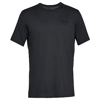 Under Armour Mens Sportstyle Left Chest Logo Cotton T-Shirt Tee Black