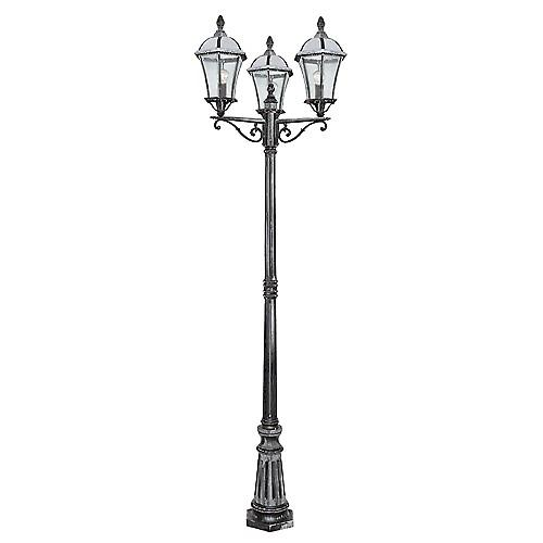 Searchlight 3669-3 Capri Traditional Aluminium Outdoor Garden Lamp Post