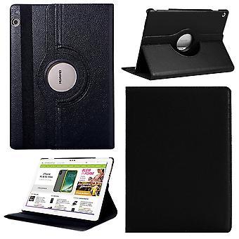 Für Huawei MediaPad M5 Lite 10.1 Tasche Hülle Case Cover Etui Schutz Schwarz Neu