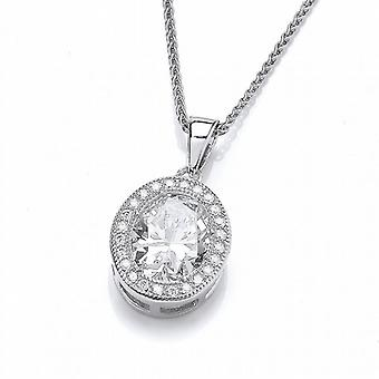 Cavendish French Oval Elegance Pendant with 16-18