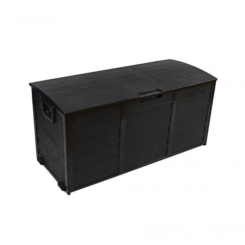 Rebecca Mobili Baule Cassapanca Giardino Garage noir 290 Lt Plastica 2 Ruote