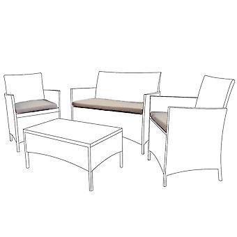 Stone 3pc Seat Cushion Set for Rattan Furniture Sofa Set