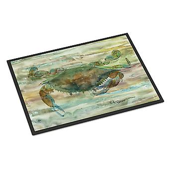 Carolines Treasures  SC2015MAT Crab a leg up Sunset Indoor or Outdoor Mat 18x27