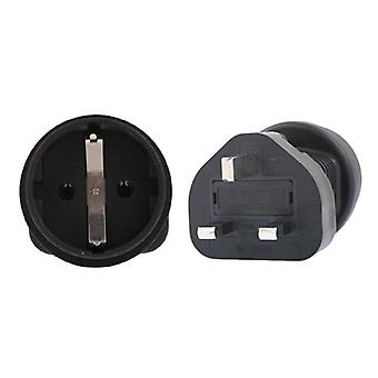 Schuko To UK 3 Pin Plug Adapter