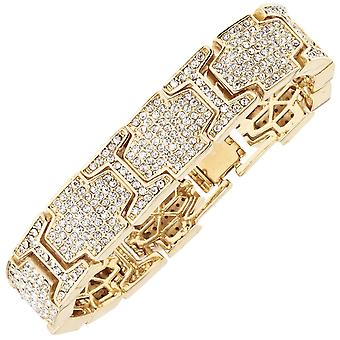 Iced out bling hiphop armband armband - ICE LINK goud