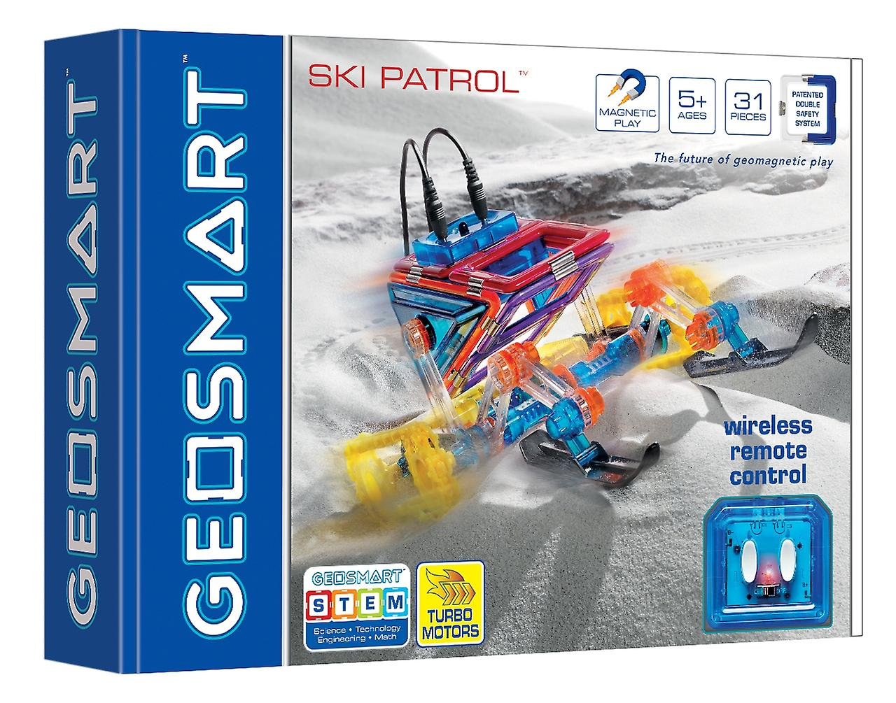 GeoSmart Ski Patrol With Wireless Remote Control Magnetic Play 28 PCs