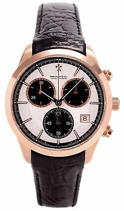 Dreyfuss Mens Rose Gold Chronograph Leather Strap DGS00063/06 Watch