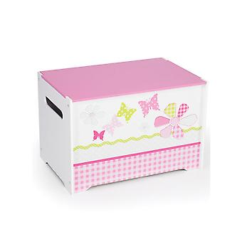 Jenter Pink patchwork Toy Box