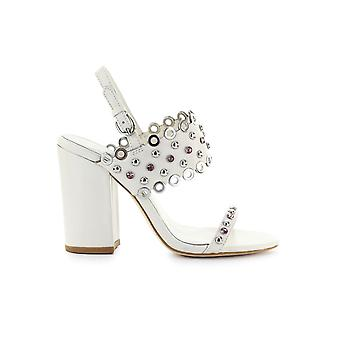 ASH LUCY WHITE HEELED SANDAL