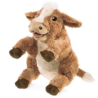 Hand Puppet - Folkmanis - Brown Cow New Toys Soft Doll Plush 30801