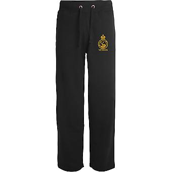 Hertfordshire Regiment Veteran - Licensed British Army Embroidered Open Hem Sweatpants / Jogging Bottoms