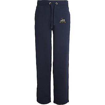 Royal Lincolnshire Regiment - Licensed British Army Embroidered Open Hem Sweatpants / Jogging Bottoms