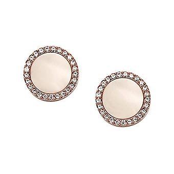 Fossil Women's Stainless Steel Earrings with Round Cubic Zirconia JF01715791
