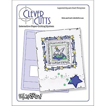 Clever Cuts Plastic Template Layered Square Agwlscc