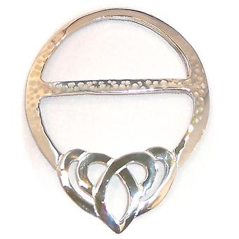 Celtic Heart Large Pewter Scarf Ring