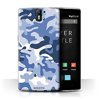STUFF4 Case/Cover voor OnePlus One/blauw 1/Camouflage Army Navy